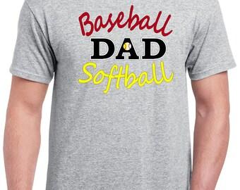 Baseball Dad Shirt, Gift for Dad, Dad Baseball Tshirt, Baseball Dad, Baseball Dad Tshirt, Softball Dad Tee Softball Dad Shirt