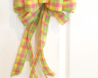Spring Bow, Easter Bow, Easter Basket Bow, Wreath Bow, Gift Bow, Package Bow, Birthday Bow, Home Décor
