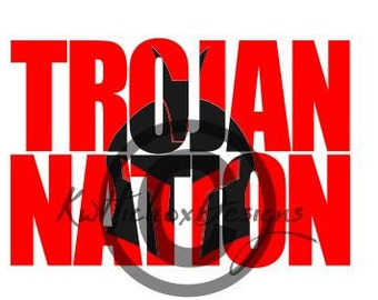 Trojan Svg, Trojan Knockout Svg, Trojan Dxf File, High School Mascot Svg, School Spirit Svg