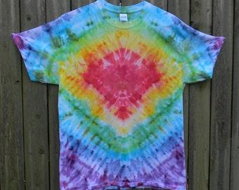 Rainbow Tie Dye T-Shirt (L)