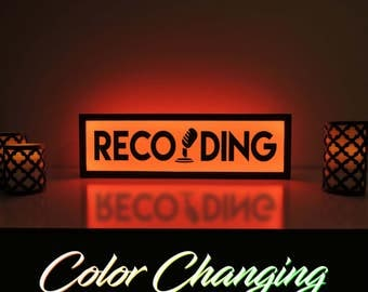 Now Recording, Recording Sign, Recording Light, Recording Light Up Sign, Business Sign, On Air Sign, On Air, Recording, On Air Recording