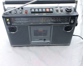 Sanyo M9980 Boombox 4 Speaker FM AM Radio 70s Stereo Cassette Tape Recorder Mint!