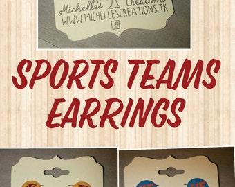 Perler Biggie bead sports teams stud earrings