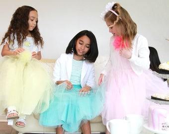 Child Tulle Skirt,Tutu,Knee length,Wedding,Birthday,Flower girl,Tea party,Birthday girl, Princess,Flared skirt,Cute skirt,wide Elastic waist