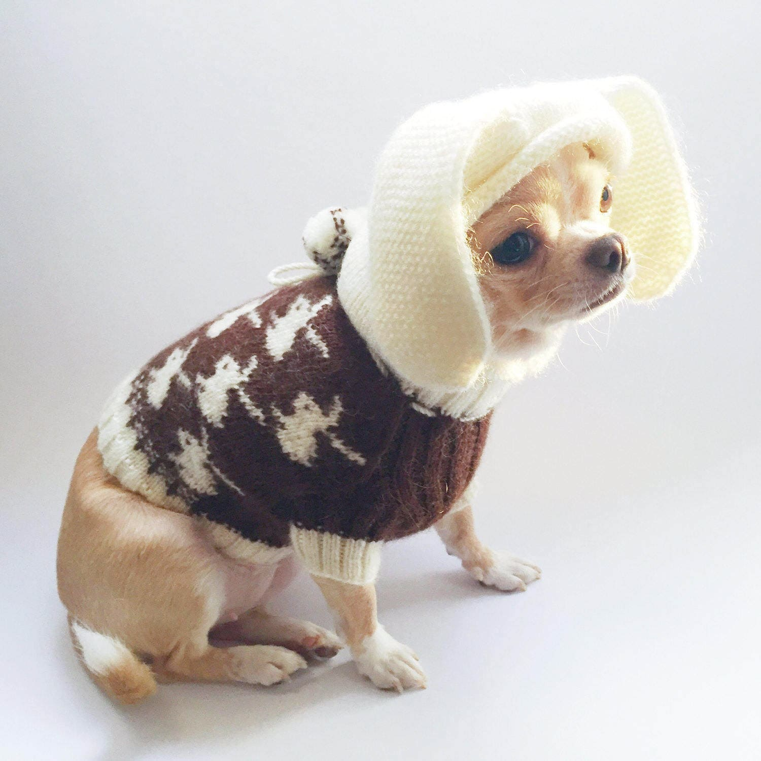chihuahua sweater brown dog sweater dog clothing chihuahua. Black Bedroom Furniture Sets. Home Design Ideas