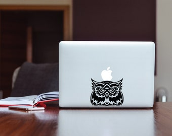 Ancient Sumerian Owl Custom Tatoo Decal for Laptops Case