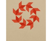 Small 11 x 14 Barn Quilt / Silkscreen Print