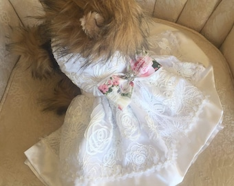 Small Dog couture Bridal Dress