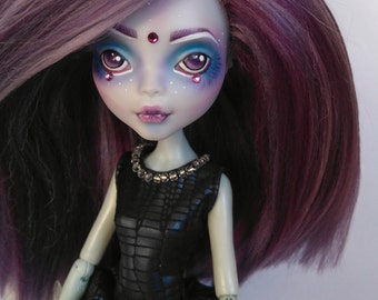 OOAK Monster High Doll- Lagoona, repainted and rerooted.