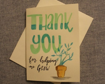 Thanks for Helping Me Grow - set of 5