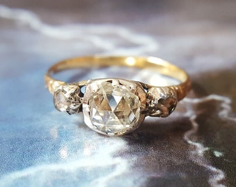 antique engagement ring vintage engagement ring vintage diamond ring diamond engagement ring - Wedding Rings Vintage