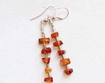 Amber earrings 5g