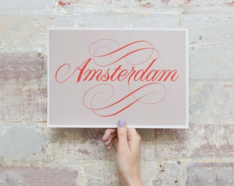 Ode to Amsterdam - Lettering Print