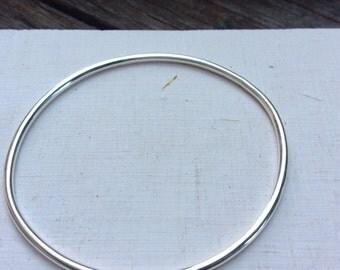 Skinny Silver bangle, thin silver bracelet, thin silver bangle, skinny boho bracelet, handmade bangle