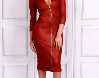 Alisha - Zip In Front Dress