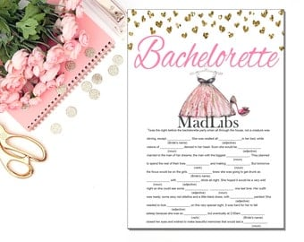 Bachelorette Mad Libs - Bachelorette Party Games - Printable Bachelorette Games - Hen Party Games -  Bachelorette Party INSTANT DOWNLOAD