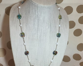 Multicolor Speckle Necklace