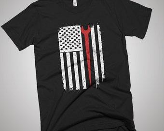 Ironworker USA American Flag T-Shirt
