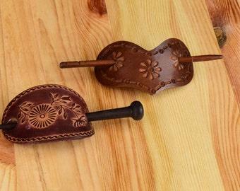 Vintage Slide Stick Hair Bun Pin  Barrettes