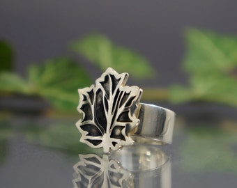 Handmade ring, silver ring, design ring, fashion ring, flower ring, silver jewelry, gift for her,  exclusive ring.
