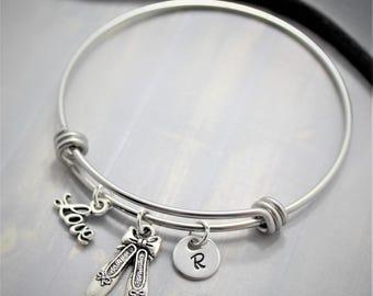 Ballet Bracelet - Ballet Bangle - Ballet Recital Gift - Ballet Teacher Gift - Ballerina Jewelry - I Love Dance Bracelet - Dance Gift Idea
