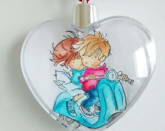 Valentine's ornament, heart gift Valentine, love gift heart, hanging heart decor, gift for her, heart gift for him, for him Valentine