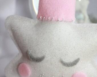 Baby Pink Crowned Star - Door/Room Ornament