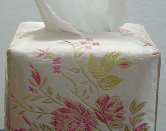 Tissue Box Cover Pattern - Elegant, Reversible, Fabric