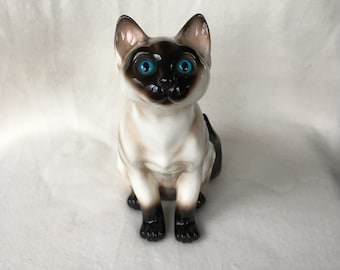 One of 3 vintage siamese cats, large siamese cat by Vaga international