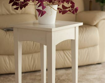 White Occasional Table - Shaker Style -Pine