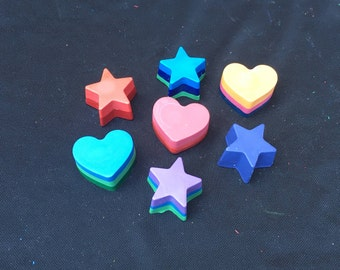 Hearts and Stars Crayons Party Favors (10-25 bags)- Twinkle Little Star- Valentines Favors