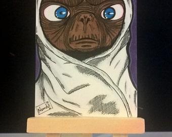 ET (with blanket) Sketchcard