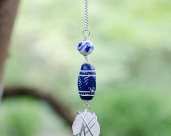 Clear Sea Glass Necklace