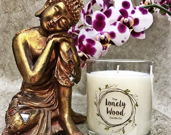 220g Soy Blend Candle Jade Orchid & Lotus Blossom Scented | Container Candle | Lotus Scented Candle | Lotus Blossom | Gift Idea | Hand Made