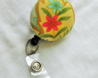 Flower Badge Reel, ID badge holder