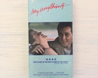 Say Anything VHS Vintage 1989 Original Release