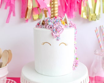 Unicorn Cake- Fake cake, prop cake, party decor