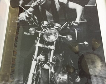 Framed Sting Motorcycle Poster