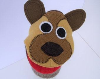handpuppet Bear named Woody