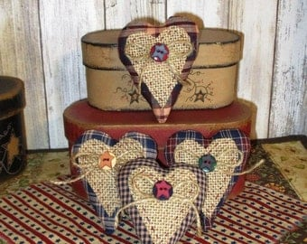 Primitive Heart Bowl Fillers set of 4