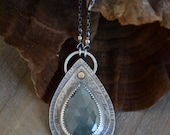 Sea Green Sapphire Sterling Silver Necklace