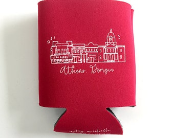 Athens, Georgia Tailgate Red Insulated Can Holder