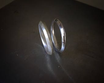 Silver Peak Simple Sterling Silver Ring