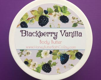 Blackberry Vanilla Body Butter | Lotion | Cream | Raspberry | Organic | Bath | Beauty | Mom | Fruit | Berries | Nature | Jam | Leaf | Purple