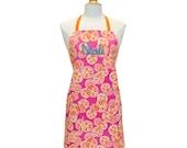Cute Apron Set Pinafore Apron Cooking Apron Personalized Apron Full Apron Womens Apron Custom Apron Monogrammed Apron
