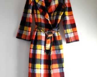 Classic plaid COZY rugged camping robe UNISEX OS