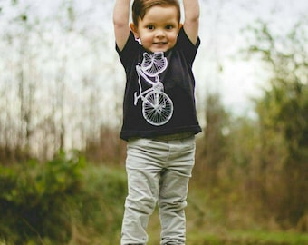Bicycle| T'Shirt| Toddler| Children Sizes| Art by Matley| 2T-7T| Great gift for him and her| Bike tees.
