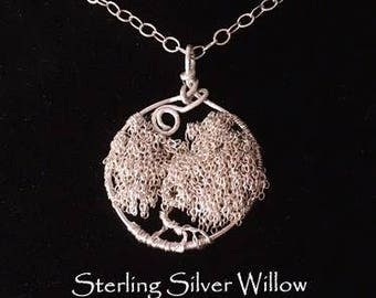 St. Silver Willow Tree of Life Necklace