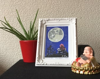 Alice and the Moon Print