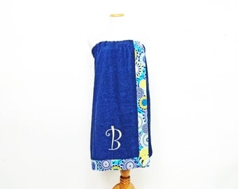 Monogrammed Towel, Bridesmaid Gifts, Graduation Gifts, Shower Wrap, Towel Wrap, Bath Wrap, Embroidered Towel,Spa Wrap, Bath Towel Wrap